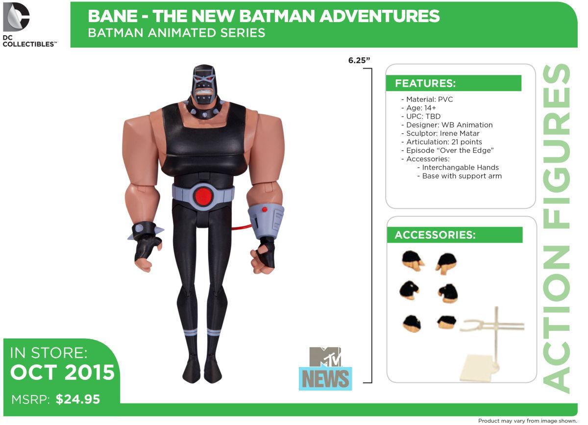 DC Collectibles Announces Batman: The Animated Series Batmobile & More Figures