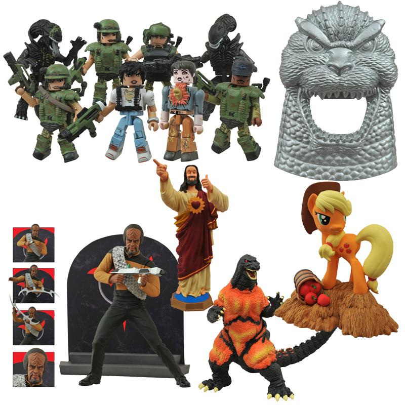 Diamond Select Toys Now in Stores: Lt. Worf, Buddy Christ, Godzilla, Aliens & My Little Pony