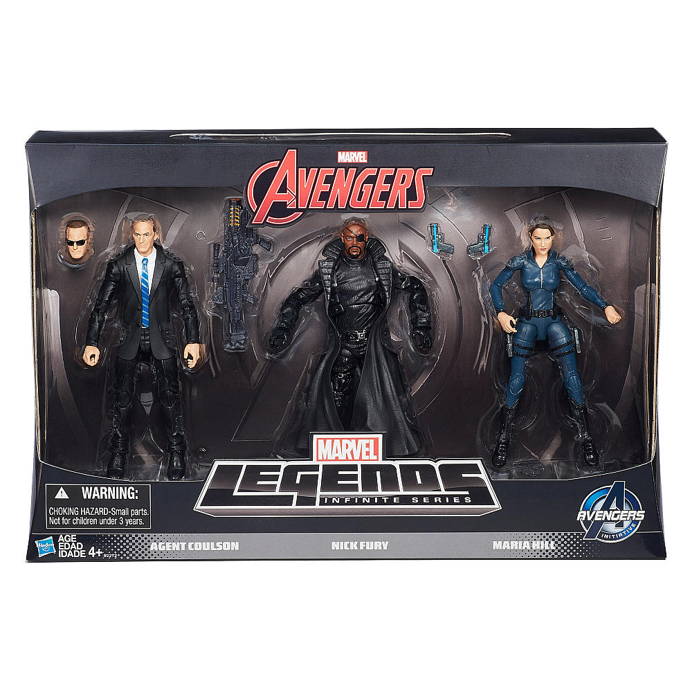 """Hasbro Avengers Marvel Legends Agents Of Shield 3-Pack In Stock At Toys """"R"""" Us"""
