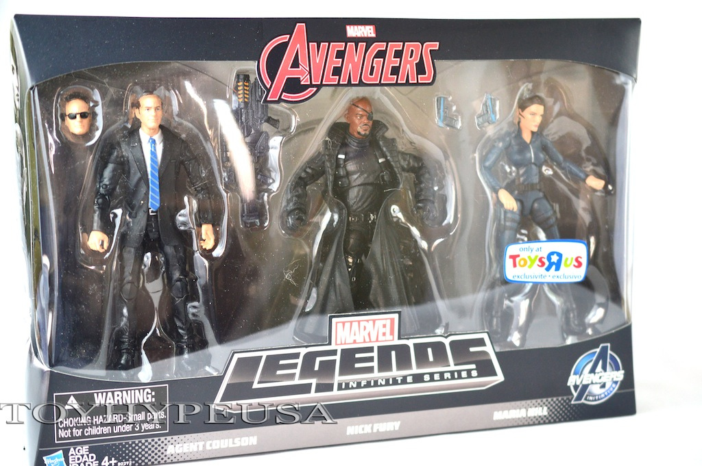 """Marvel Legends Toys """"R"""" Us Exclusive Agents Of Shield 3-Pack Review"""