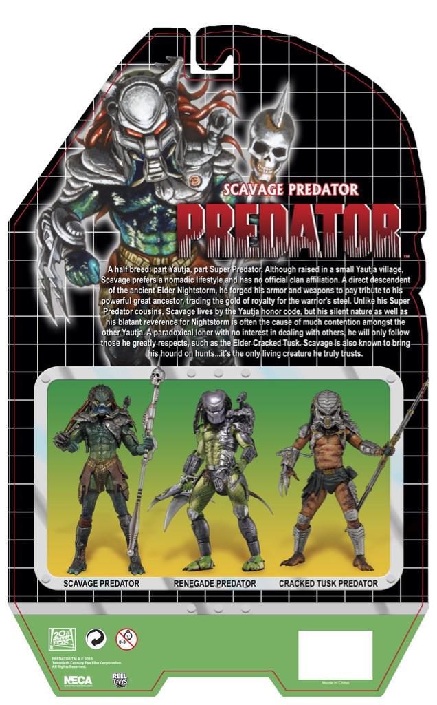 NECA Predator Series 13 Card Back & Bio For Scavage