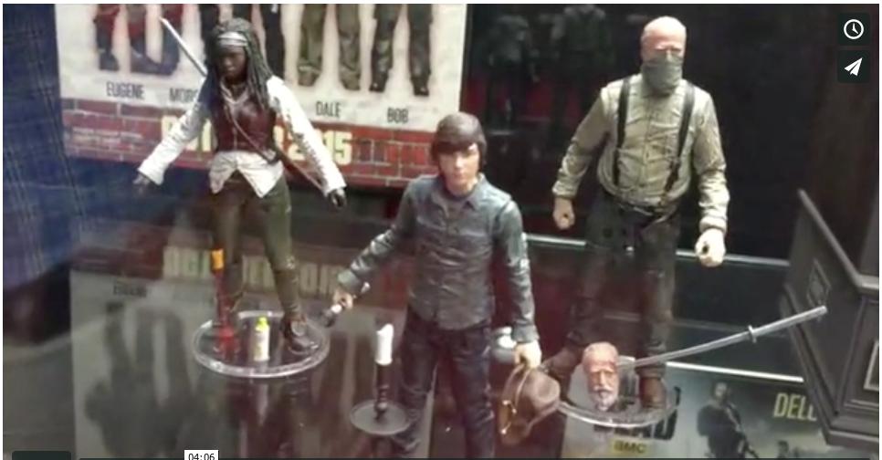 NYTF 2015 – McFarlane Toys The Walking Dead Video Walkthrough With Brett Gardner