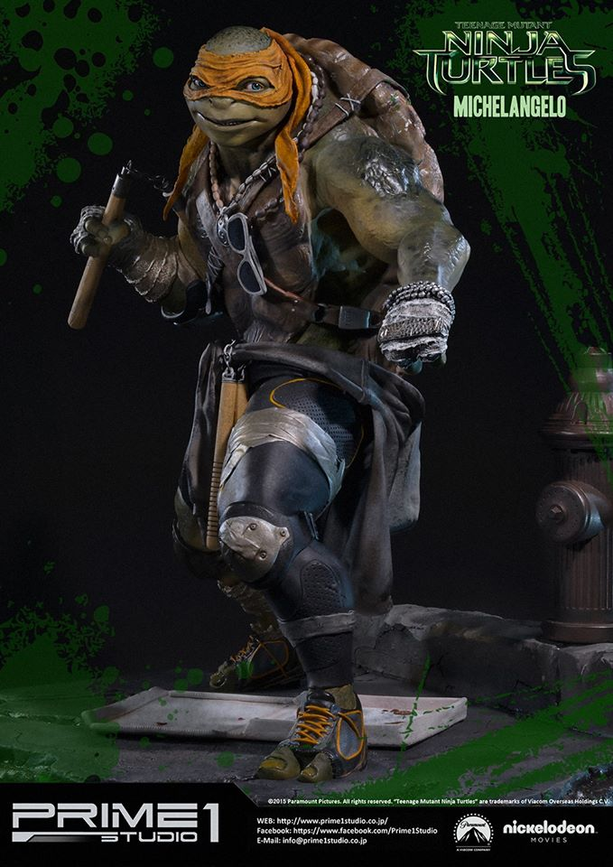Prime 1 Studio Teenage Mutant Ninja Turtles Michelangelo Statue New Images & Details