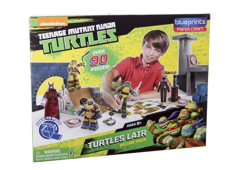 Jazwares TMNT Turtles Lair Blueprints Set Images