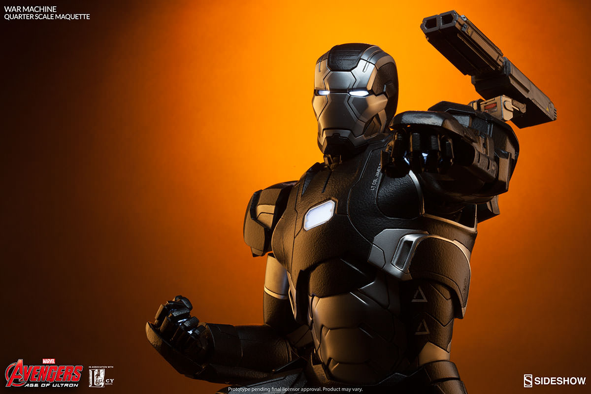Sideshow Avengers: Age of Ultron War Machine Quarter Scale Maquette Updated Information & Images