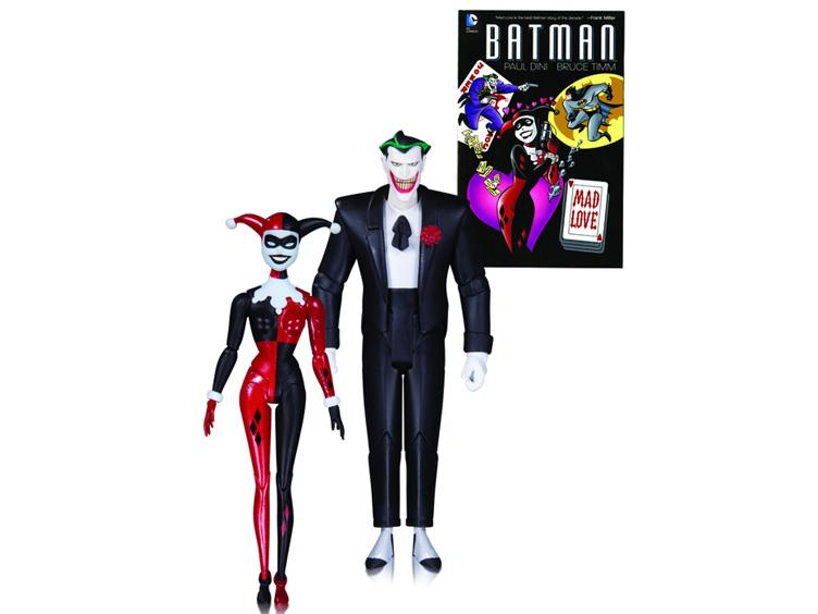 DC Collectibles Batman: The Animated Series The Joker & Harley Quinn 2-Pack With Book