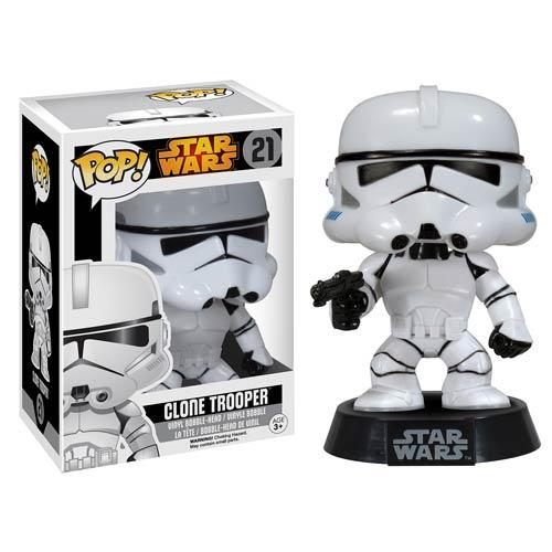 Entertainment Earth News: Star Wars Clone Trooper Pop! Vinyl Bobble Head $5.70