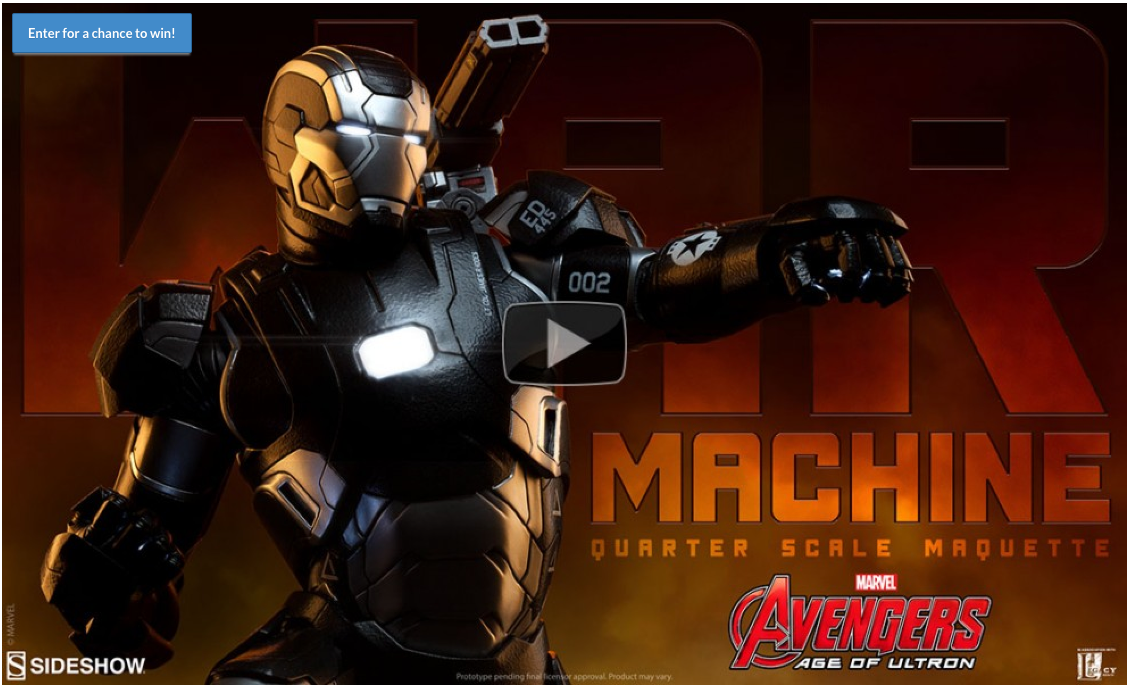 War Machine Quarter Scale Maquette Video Preview