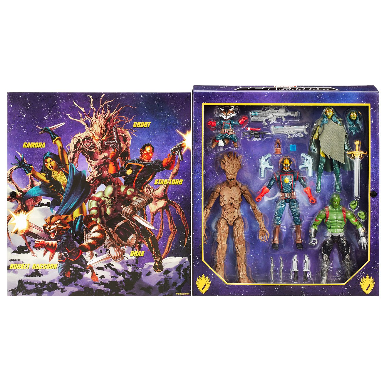 Entertainment Earth Exclusive Guardians Of The Galaxy Comic Edition Marvel Legends Action Figure Set Packaging Images