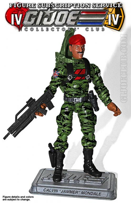 "G.I. Joe Collectors' Club FSS 4.0 Calvin ""Jammer"" Mondale Figure Revealed"