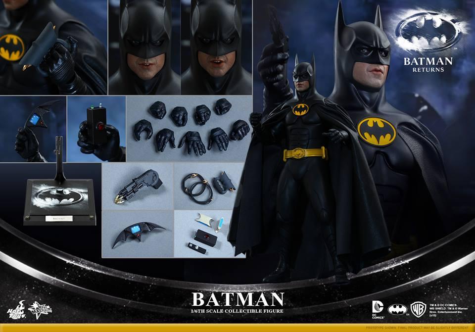 Hot Toys Batman Returns 1989 Sixth Scale Batman & Bruce Wayne Figures