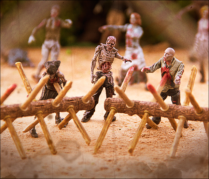 McFarlane Toys The Walking Dead Building Sets Walker Barrier