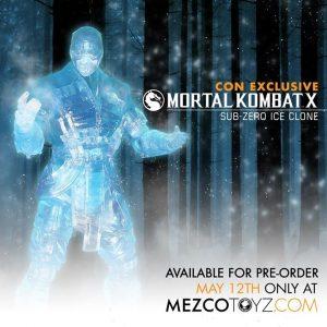 Mezco Reveals SDCC Exclusive Mortal Kombat X Ice Clone Sub Zero