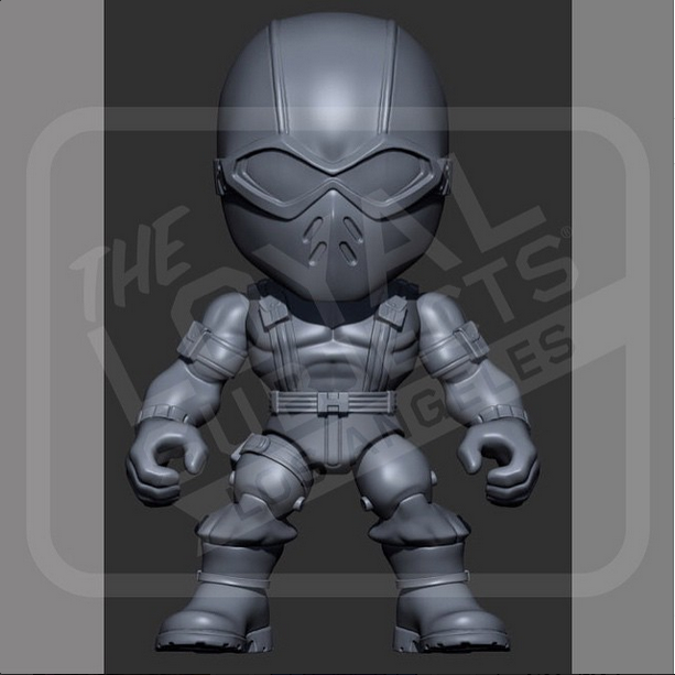 The Loyal Subjects G.I. Joe Action Vinyls Wave 2 Snake Eyes Figure Preview