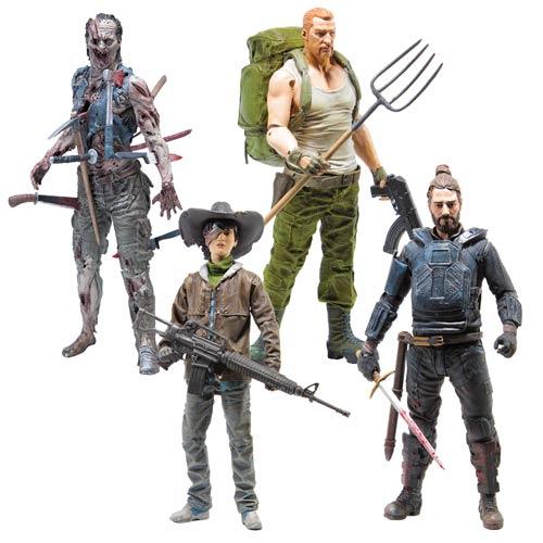 "The Walking Dead Comic Series 4 – Abraham Ford, Carl Grimes, Paul ""Jesus"" Monroe, Pin Cushion Zombie"