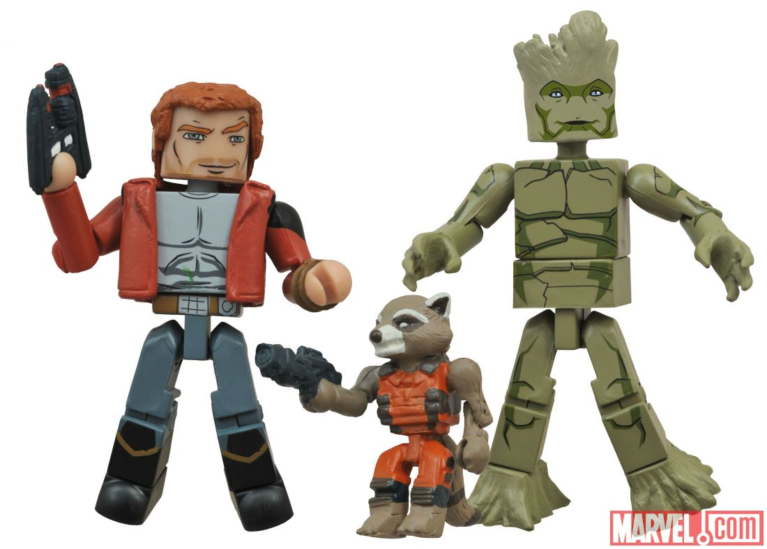 Walgreens Exclusive Avengers Assemble, Ultimate Spider-Man And Guardians Of The Galaxy Minimates