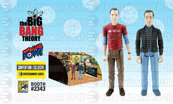 SDCC 2015 Exclusive The Big Bang Theory Sheldon And Stuart 3 3/4-Inch Action Figures Set
