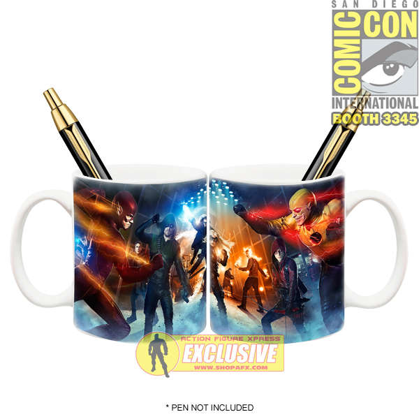 Icon Heroes Announces SDCC Exclusive Arrow And Flash TV Super Hero Fight Club Mug Pen Holder
