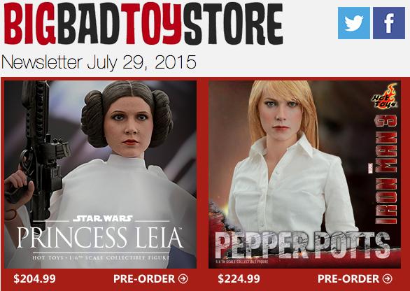 BigBadToyStore Update – Hot Toys, Aliens, Bruce Lee, Enterbay NBA, Frozen, Star Wars, Transformers & More