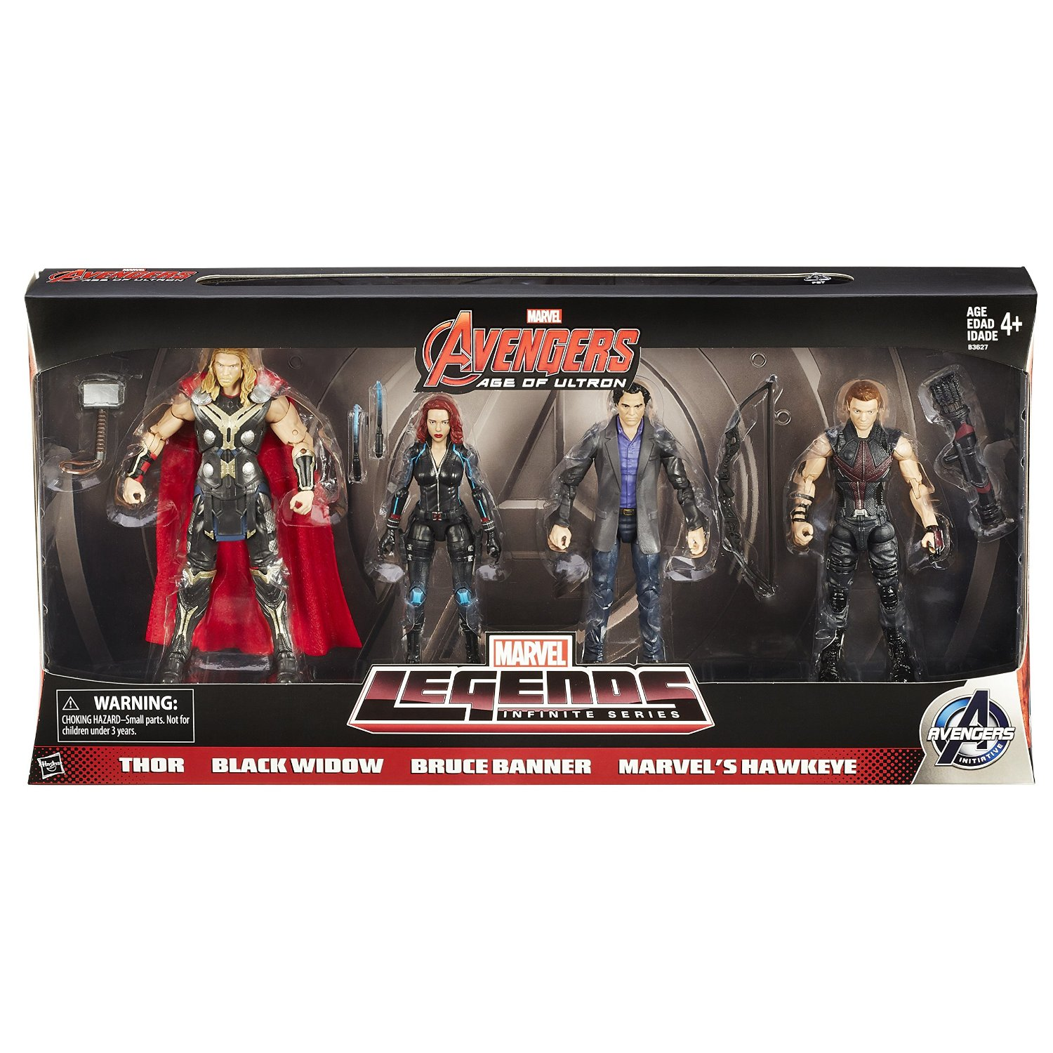 Hasbro Amazon Exclusive Marvel Legends Avengers: Age Of Ultron 4 Pack Listing