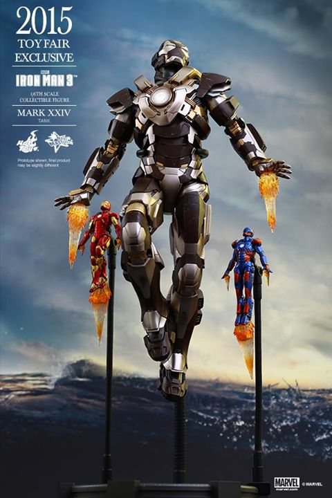 Hot Toys Traveling Con Exclusive Iron Man Mark XXIV Tank Armor Sixth Scale Figure