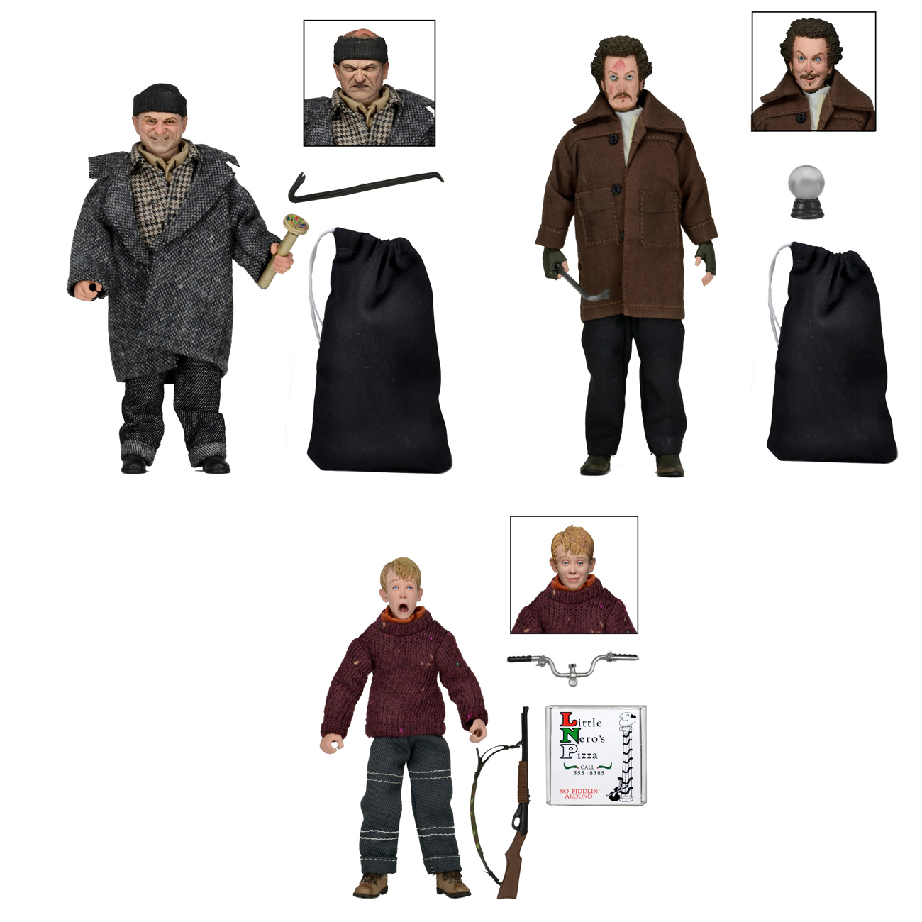 NECA Toys Re-Lists Home Alone 8″ Retro Style Clothed Figures On Amazon & eBay Storefronts