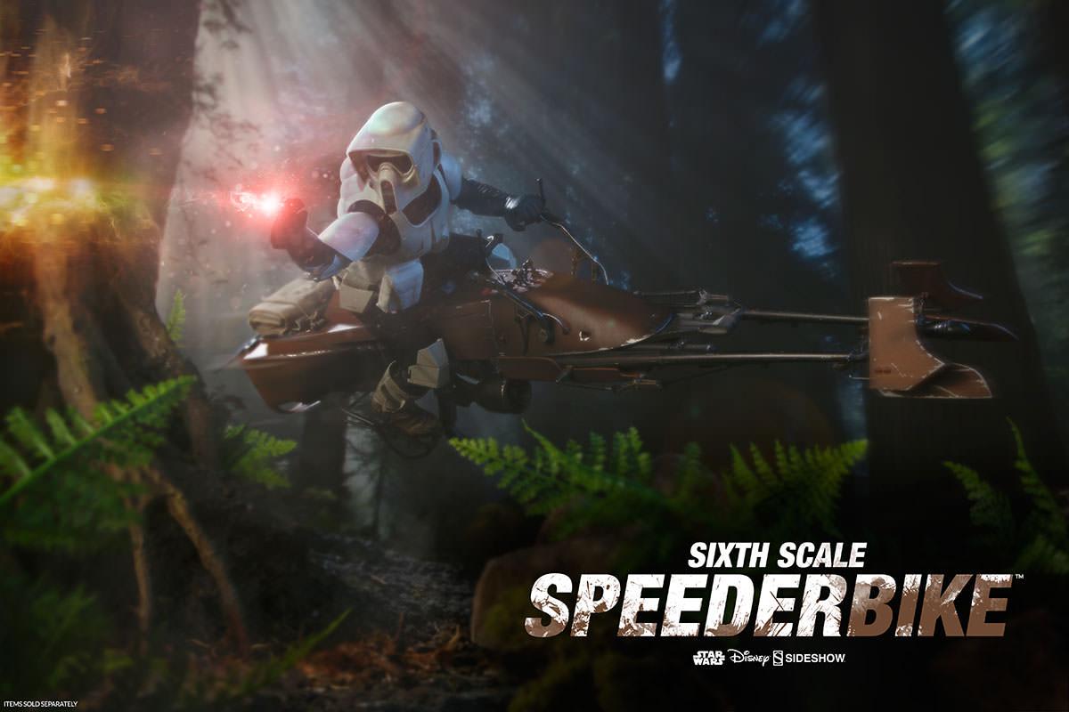 Sideshow Star Wars Episode VI: Return Of The Jedi Speeder Bike Sixth Scale Vehicle New Images
