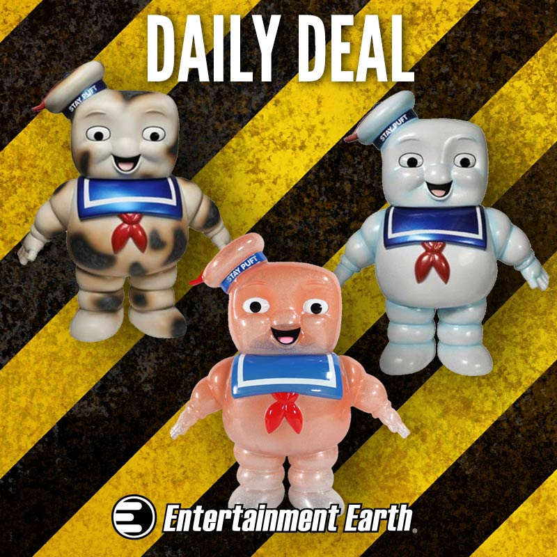 Entertainment Earth Daily Deal – Funko Ghostbusters  Stay Puft Hikari Sofubi Vinyl Figures