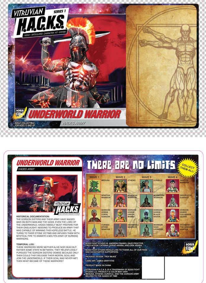 Boss Fight Studio Vitruvian H.A.C.K.S. Packaging Art Reveal #2