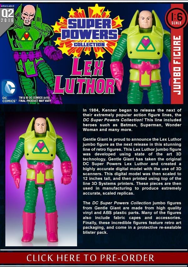 Gentle Giant Ltd. August 2015 Listings – Lex Luthor, Catwoman, & Secret Wars Bobble-Series