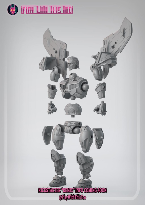 Play With This Too Lost Protectors Jetstrike Figure Exploded View