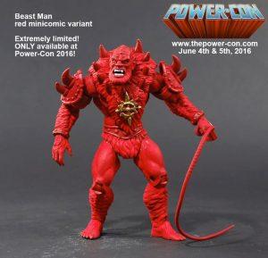 Power-Con 2016 red minicomic Beast Man