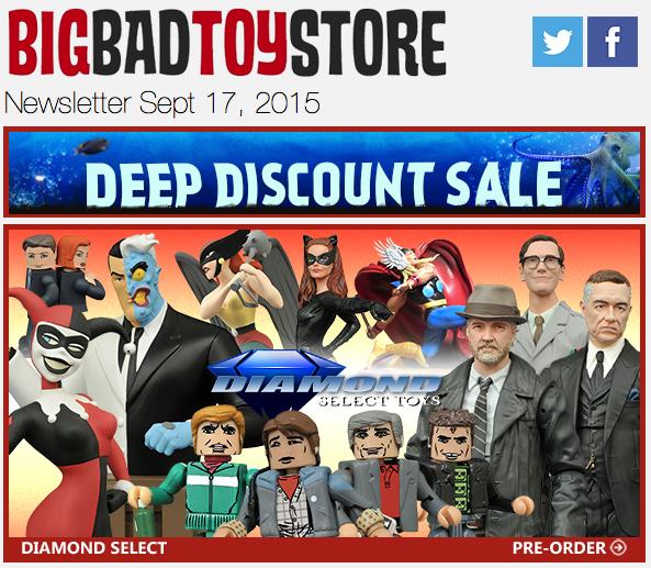 BigBadToyStore Update – Deep Discount Sale, Diamond Select, Judge Dredd, DBZ, Game Of Thrones, DC, Metal Gear Solid & More