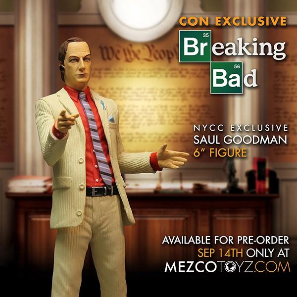 Mezco NYCC 2015 Exclusive Breaking Bad Saul Goodman Pre-Order Starts Today