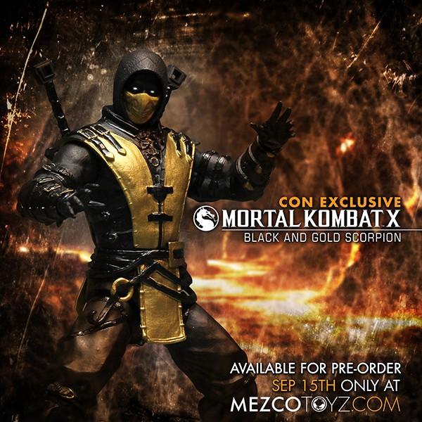 Mezco NYCC 2015 Exclusive Mortal Kombat X Scorpion Figure Images & Details