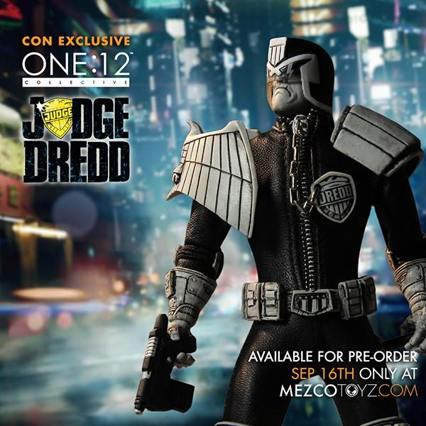 Mezco NYCC 2015 Exclusive One:12 Collective – Judge Dredd Black & White Variant