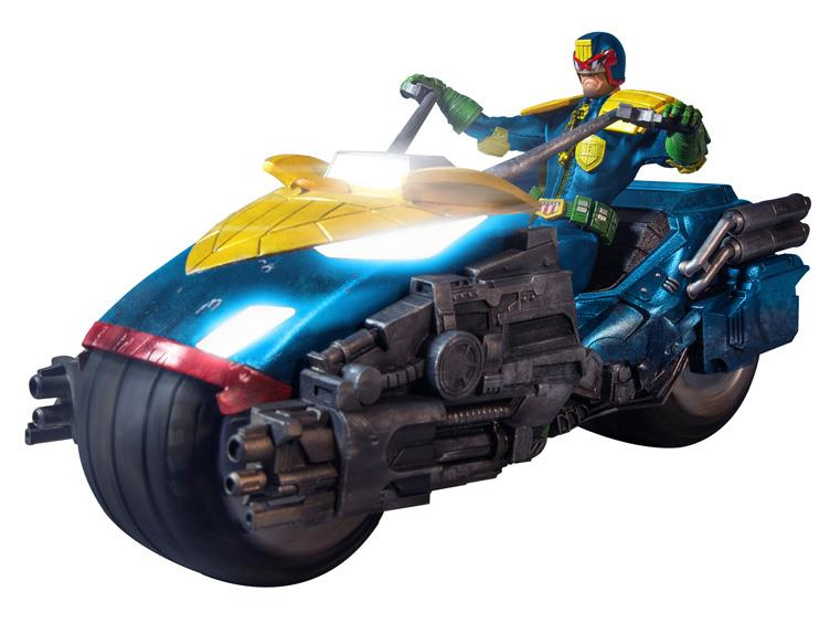 Mezco One:12 Judge Dredd Action Figure With Bike Box Set PX Previews Exclusive