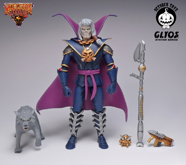 October Toys Skeleton Warriors Grimskull Figure Will Now Include Pet Wolf Stalker