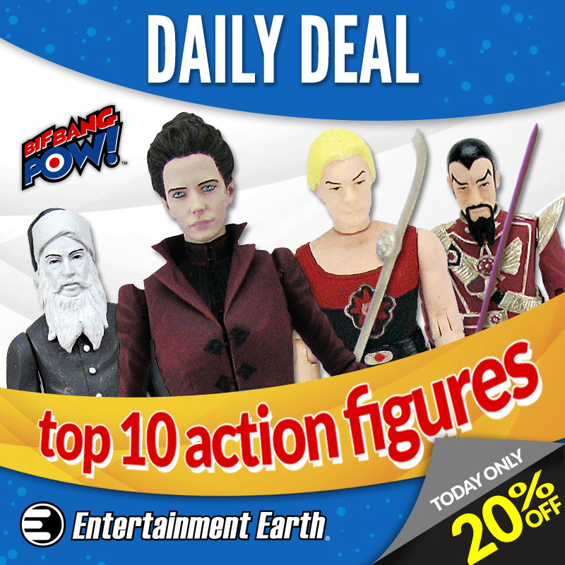 Entertainment Earth's November 10th Daily Deal: Bif Bang Pow! Top 10 Action Figures – Now 20% Off