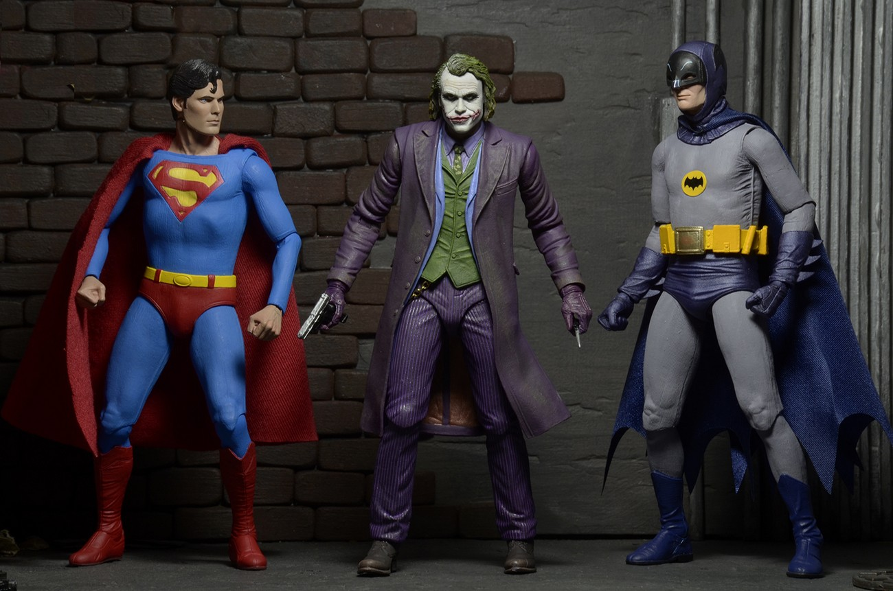 NECA Closer Look: DC Comics Joker, Batman, & Superman 7″ Promo Figures