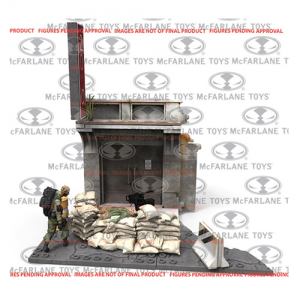 The Walking Dead Jersey Barrier and Sand Bags Construction Set