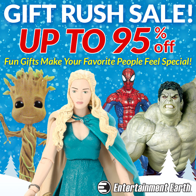 Entertainment Earth Launches Gift Rush Sale – Up To 95% Off + Our $10 Coupon, Free Gift & Shipping