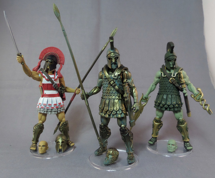 Boss Fight Studio's Vitruvian H.A.C.K.S. Paint Master Samples Of Athenian, Eurayle's Disciple, & Talos