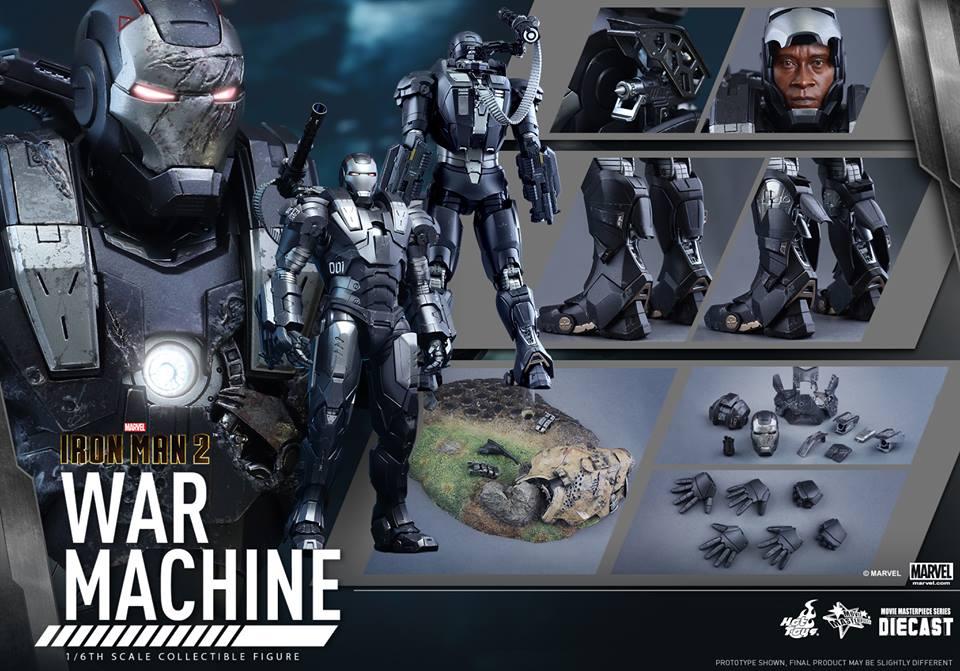 Hot Toys Iron Man 2 Diecast War Machine Sixth Scale Figure Pre-Orders
