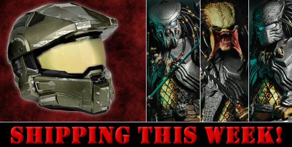 NECA Toys Shipping Update – Master Chief Motorcycle Helmet & Predator Series 14