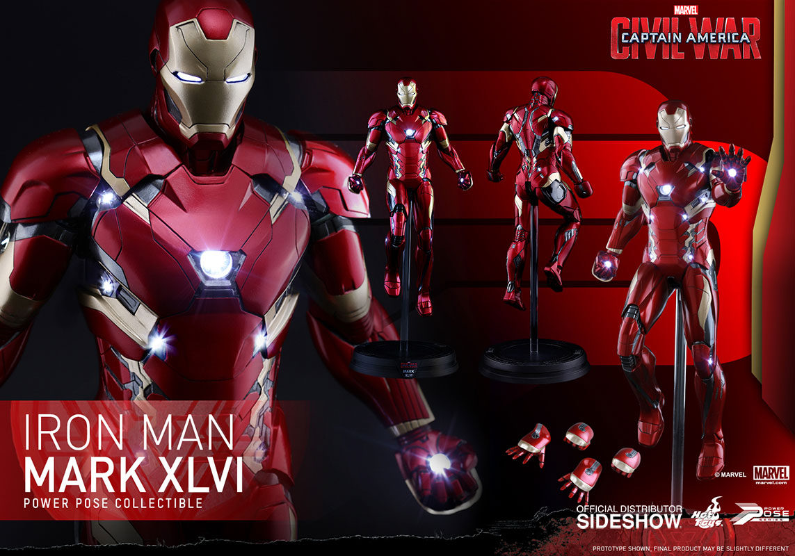 Hot Toys Captain America: Civil War – Iron Man Mark XLVI Sixth Scale Figure Pre-Orders