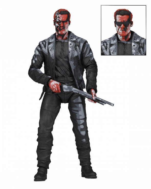 NECA Toys Announces Terminator 2 T-800 (Classic Video Game Appearance) 7″ Figure