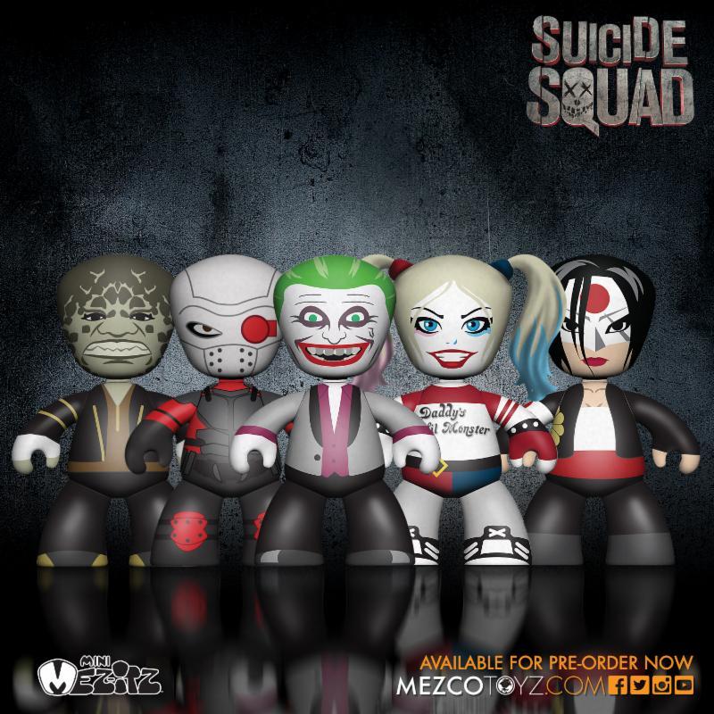 Mezco Toyz Mez-Itz Suicide Squad 5 Pack