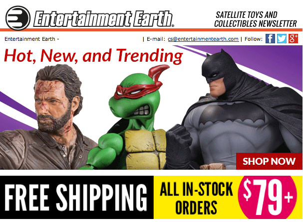 Entertainment Earth: Star Wars: Marvel, TMNT, TWD, Transformers & More