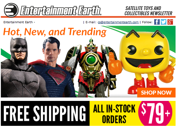 Entertainment Earth: Super Bowl, Deadpool, Power Rangers, & More